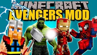 AVENGERS MOD - Trajes con superpoderes en minecraft :v - Minecraft mod 1.7.10 Review ESPAÑOL