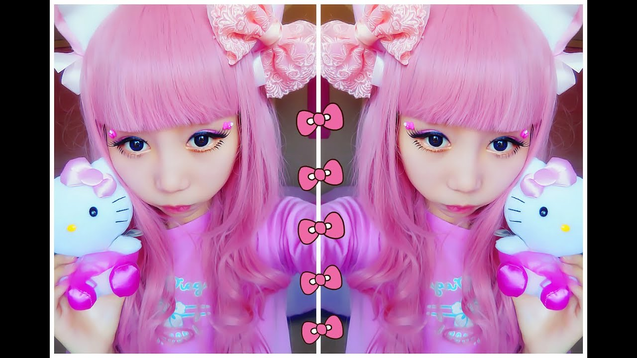 kawaii hello kitty makeup tutorial youtube