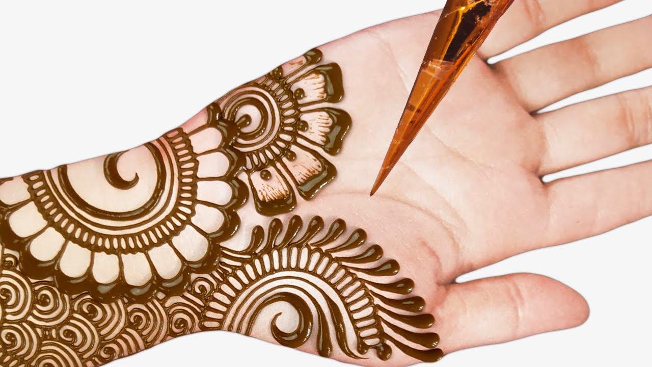 attractive full hand mehndi design 2019