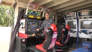 wangan Midnight Maximum Tune 3 DX Plus Video Arcade Game Running 3 Races With 4 Kids Racing