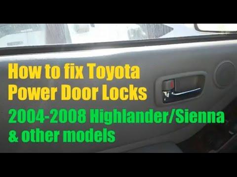 Toyota power door locks not working (Fix/Solved) - YouTube