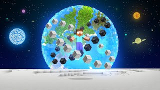Going To SPACE As HEROBRINE In Minecraft!