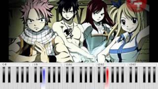Fairy Tail - Main Theme (Slow Version) Piano Tutorial