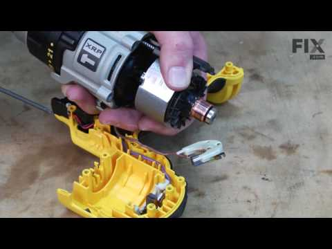 DeWALT Hammer Drill Repair - How to replace the Brushes
