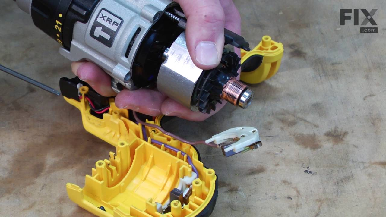 Jcb Wiring Schematic Dewalt Hammer Drill Repair How To Replace The Brushes