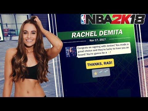 RACHEL FROM 2KTV SENDING ME TEXTS!? [NBA 2K18 MyCareer] Ep. 9