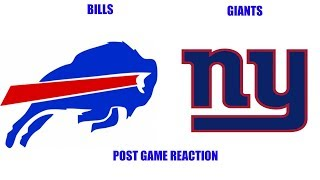 Buffalo Bills vs New York Giants Post Game Reaction Giants Fan Reaction