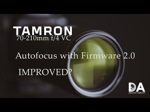 Tamron 70-210mm F4 VC Autofocus Firmware 2 4K