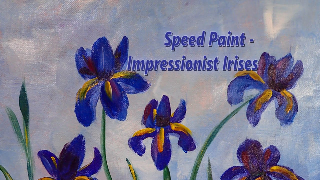 Surprise may flowers irises speed acrylic painting youtube may flowers irises speed acrylic painting izmirmasajfo