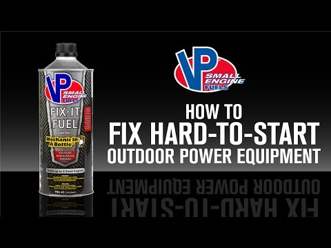 How to fix hard-to-start outdoor power equipment