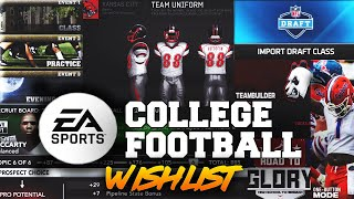 The *ULTIMATE* EA College Football WISHLIST