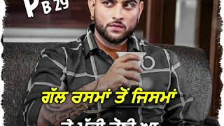 Kya Baat Hai : Karan Aujla Whatsapp Status | Latest Punjabi Song Status Video 2020