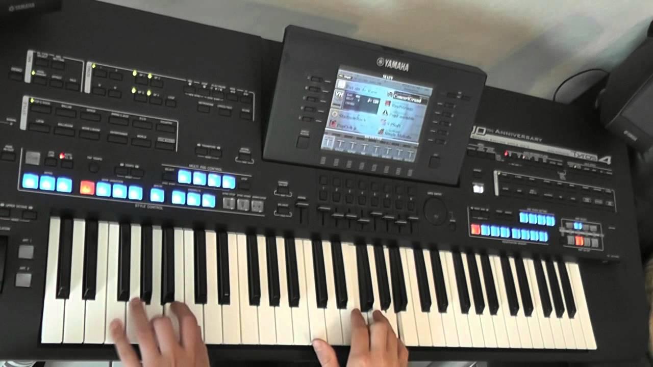 ballade pour adeline von mike morbusch am yamaha keyboard tyros 4