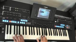 ballade pour adeline von mike morbusch am yamaha keyboard tyros 4 black
