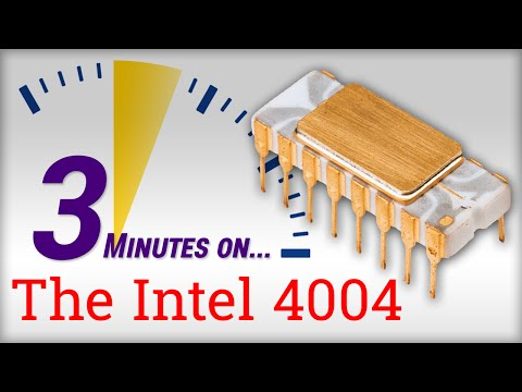 3 Minutes On... The Intel 4004 Microprocessor