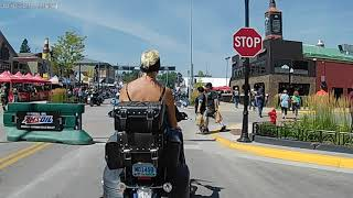 Sturgis Motorcycle Rally - downtown Sturgis 08/07/2018 around noon