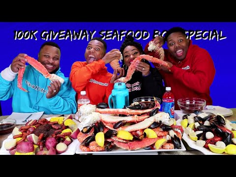 EPIC SEAFOOD BOIL 100K GIVEAWAY SPECIAL 25LBS OF SEAFOOD