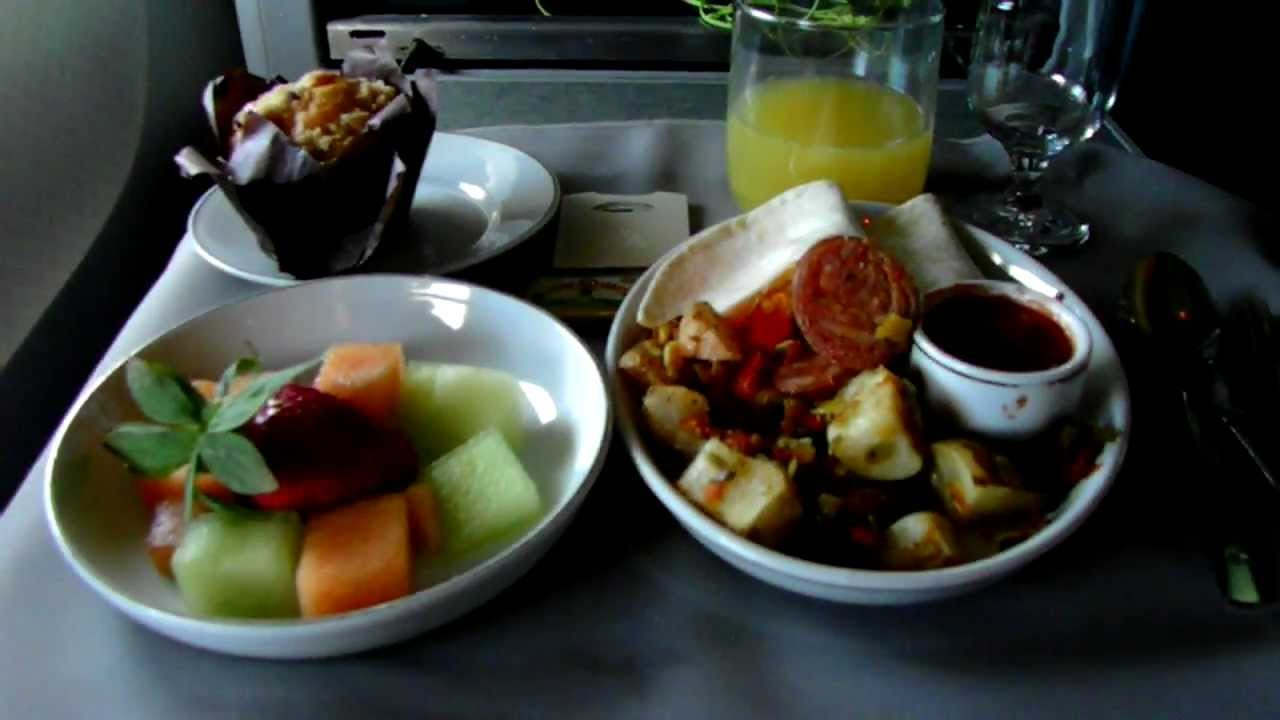 Hd american airlines 767 300 food service in first class for American continental cuisine