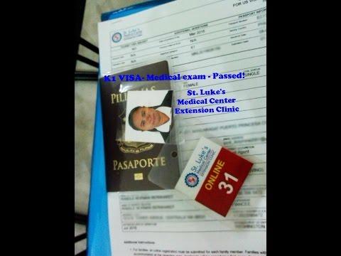 K1 Visa - St. Luke's Medical Exam - Passed! June 21, 2016