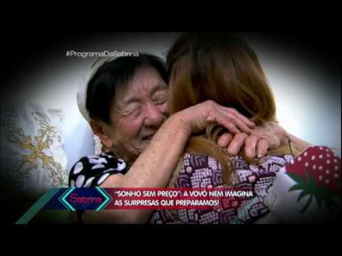 Sabrina conhece vovó japonesa de 97 anos
