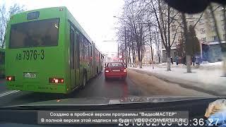 Баран за рулем автобуса