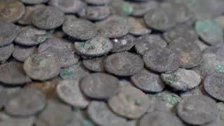 15 kilogrammnyi római kori ezüstérmét találtak Németországban