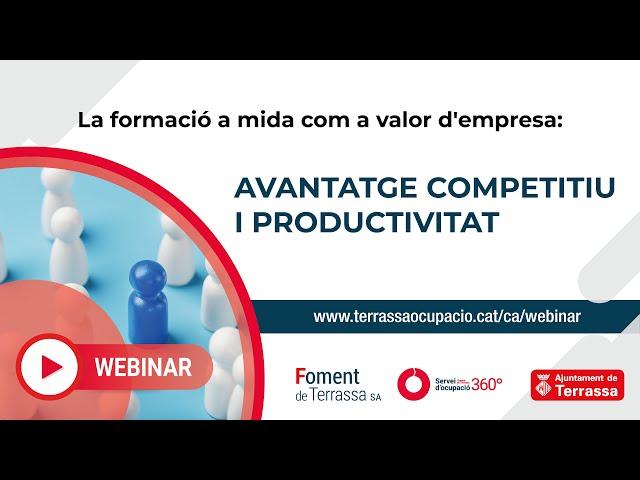 La formació a mida com a valor d'empresa: Avantatge competitiu i productivitat
