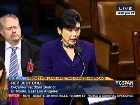 Rep. Chu Speaks in Support of Resolution of Regret for Chinese Exclusion Act