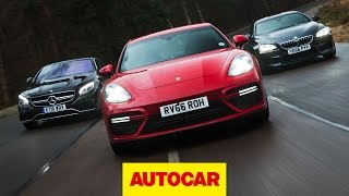 porsche panamera turbo v bmw m6 v mercedes amg s 63 ultimate luxury sports cars tested   autocar