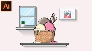 Adobe illustrator CC tutoriel - Comment Faire un Plat de Conception de Fond Pour les Débutants