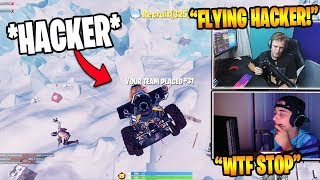 """Tfue & Cloak Dying To """"FLYING HACKER"""" During The Limited Testing Event (Fortnite Br Moments)"""