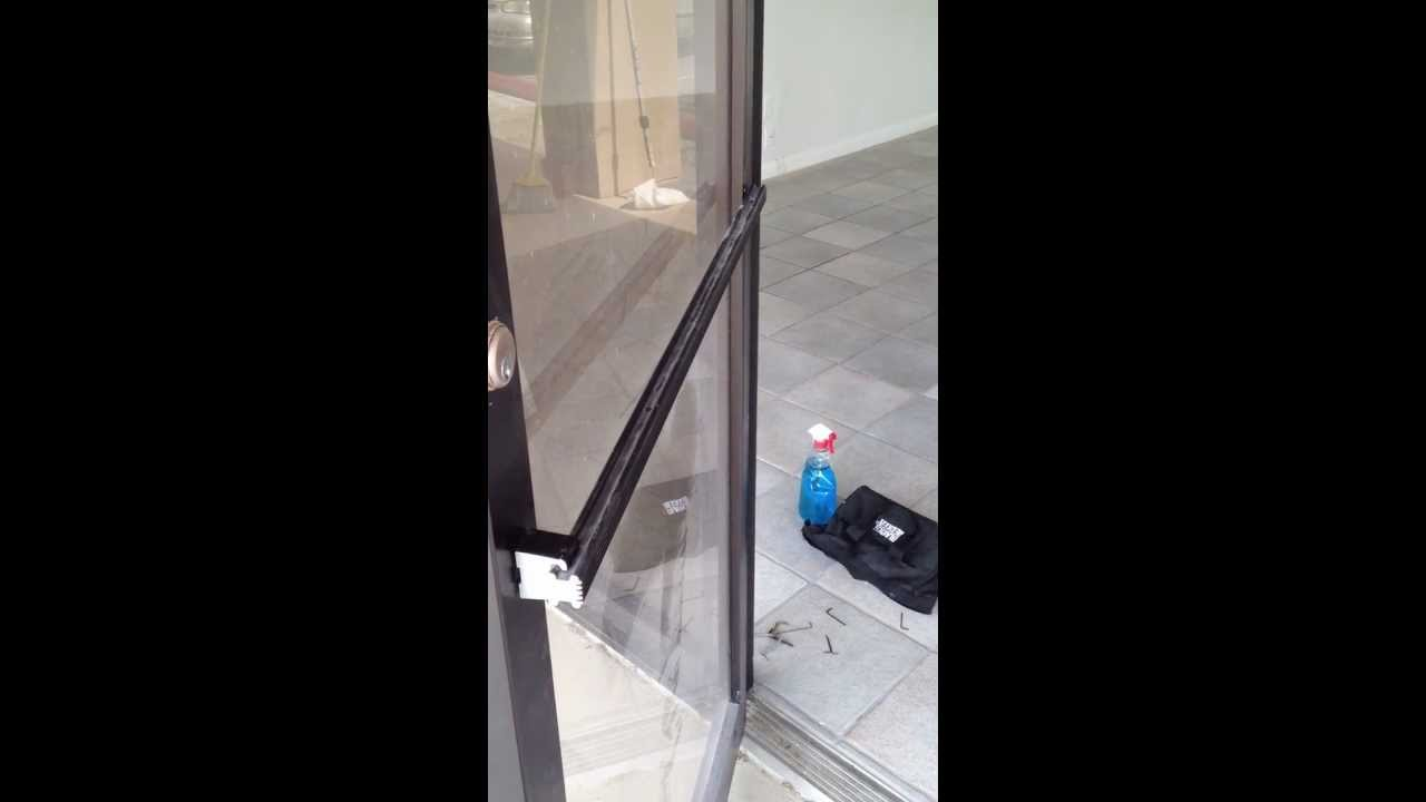 How To Tighten A Loose Commercial Style Entry Way Door