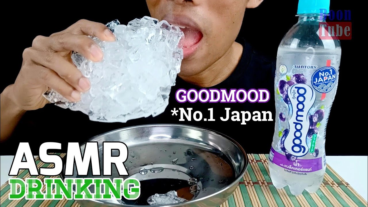 ASMR Drinking ~Goodmood no.1 japan blackcurrant water ~EXTREME FIZZY & ICE EATING| EP.85 I BoonT