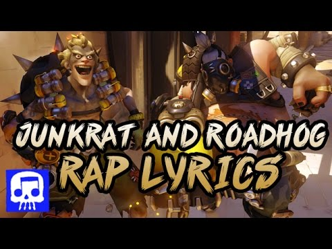 Junkrat and Roadhog Rap LYRIC VIDEO by JT Music (Overwatch Song)