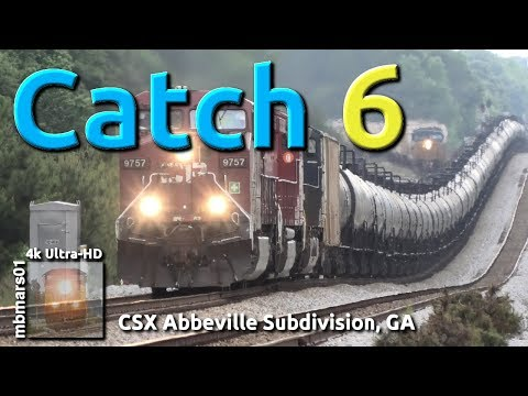 [6o][4k] Catch 6. CSX Trains Between Athens And Carlton, GA 05/02-11/2019