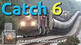 [6o][4k] Catch 6. CSX Trains Between Athens and Carlton, GA 05/02-11/2019