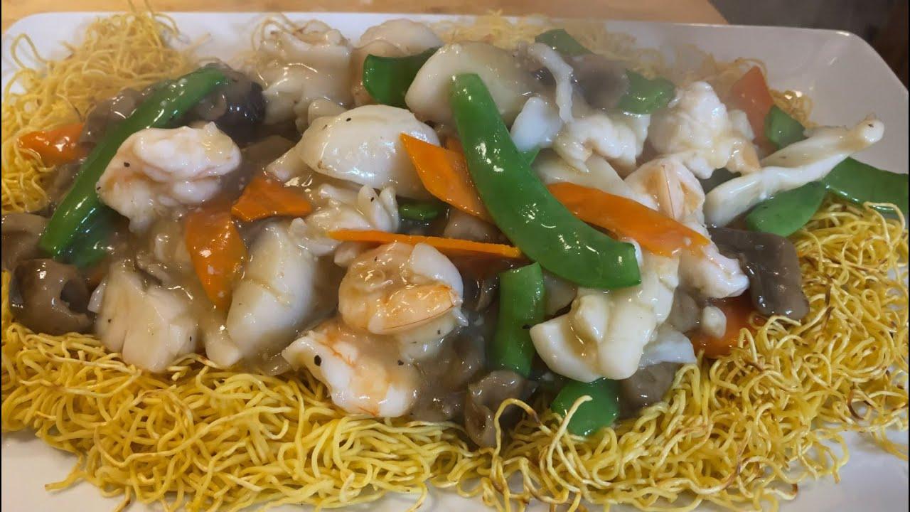 Mì xào gion hải sản - Seafood Crispy Noodle