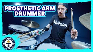 One-armed drummer sets record title: Jason Barnes - Meet The Record Breakers