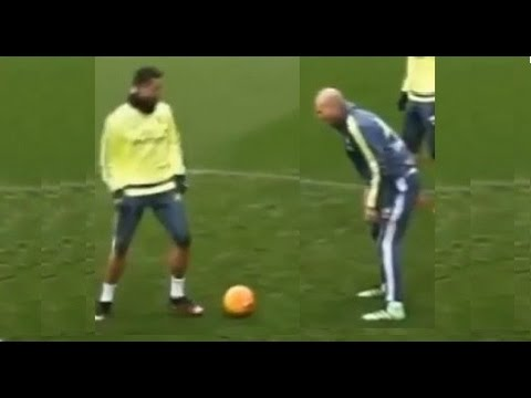 Cristiano Ronaldo intentó  un caño/tunel/nutmeg a Zidane