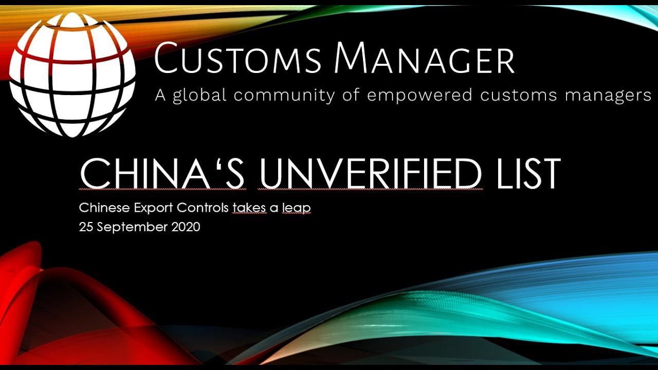 FREE WEBINAR ON DEMAND: The new Chinese Entity List -what is it all about?