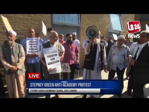 Stepney Green School anti-Academy Protest