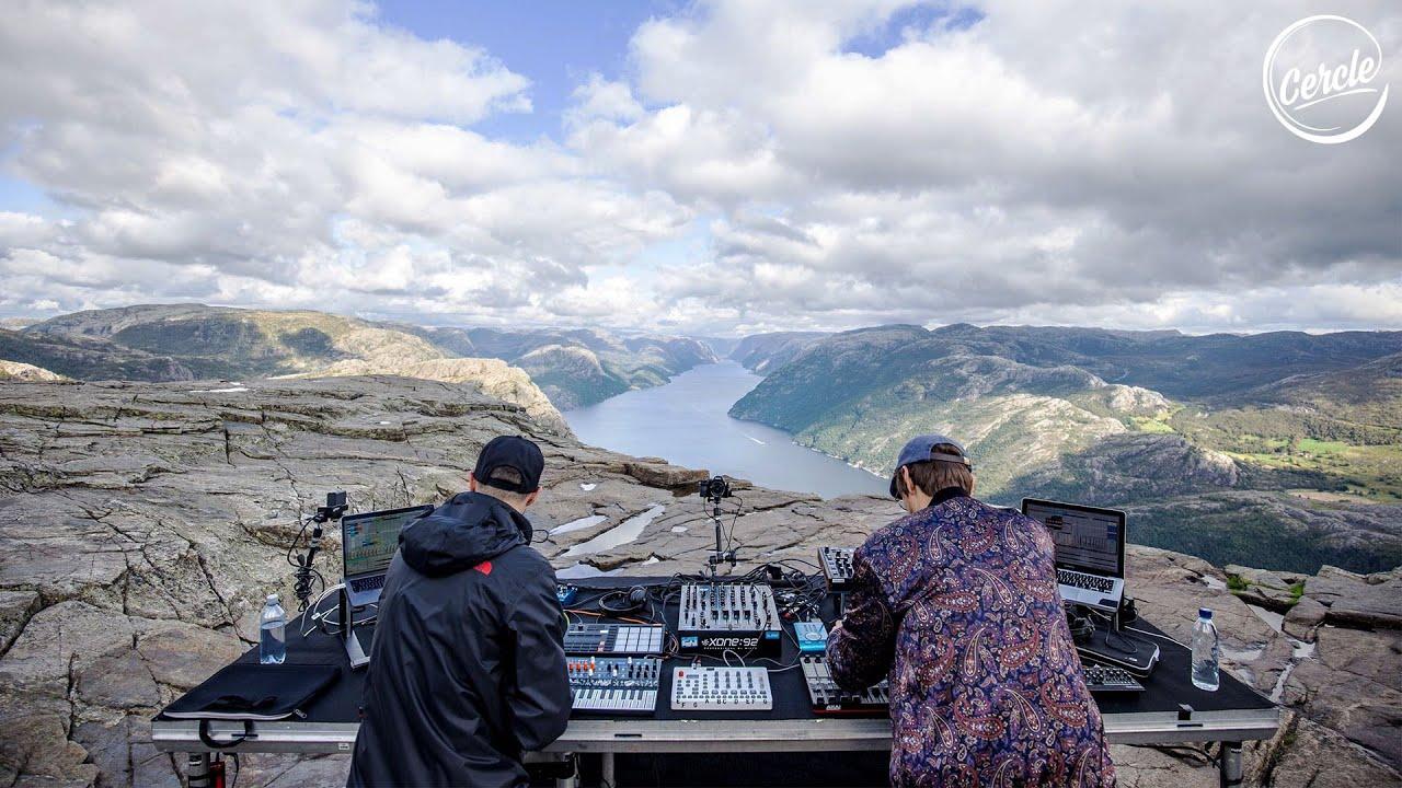 Einmusik b2b Jonas Saalbach live at Preikestolen in Norway for Cercle #1