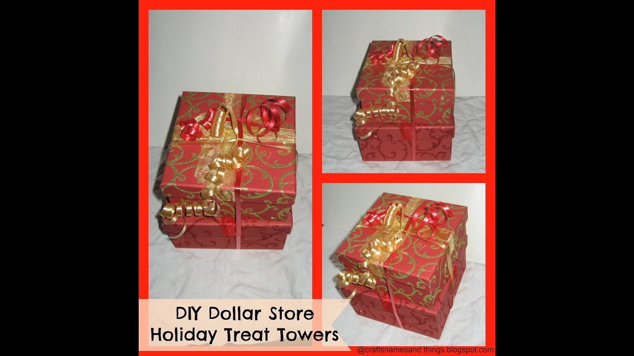 How to make Holiday Gourmet Treat Gift Towers / Tutorial/ DIY ...