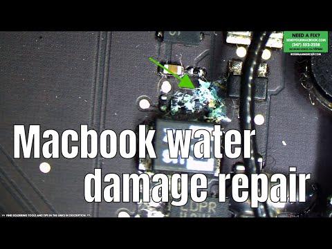 Macbook Air Water Damage Repair