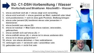 B2 DSH Vorber  WS + Strukturen Das blaue Gold der Zukunft