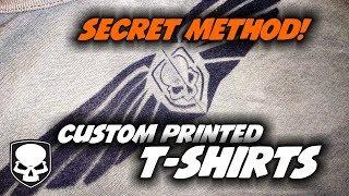 Custom T-shirts - easy - how to secret for beginners