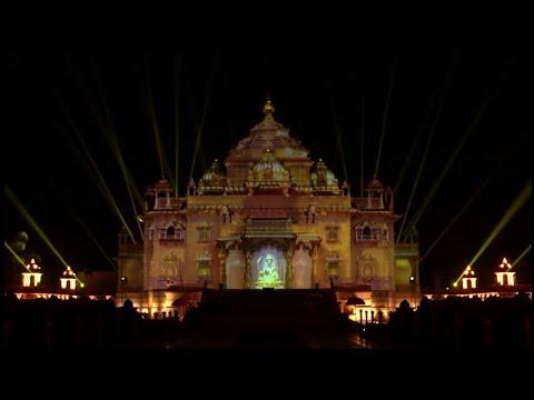 Akshardham light show 2017  Gandhinagar BAPS