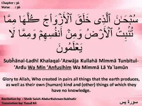 Sura Yasin (36) recite...