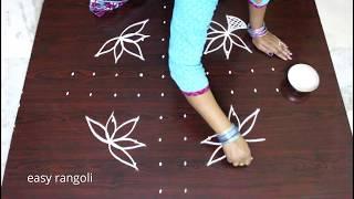 Ugadi kolam designs - easy & simple Ugadi muggulu - latest beautiful rangoli designs with 10 dots