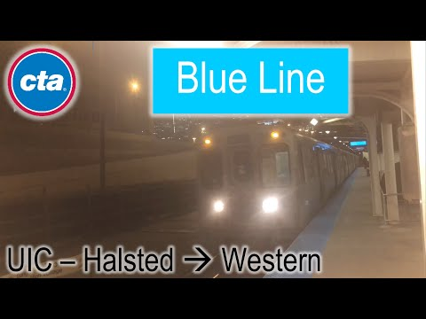 Let's Ride the Rail - CTA Blue Line from UIC–Halsted to Western (10/23/2018) from YouTube · Duration:  8 minutes 21 seconds